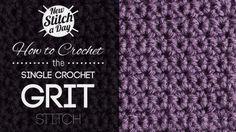 Single crochet GRIT Stitch