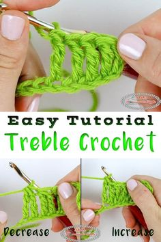 Learn how to crochet a Treble Crochet easily. You will also learn how to increase and decrease this basic stitch. It comes with a Photo and Video Tutorial. #crochet #freecrochet #freepattern #freecrochetpattern #treblecrochet #crochettutorial #treblecrochetincrease #increase #treblecrochetdecrease #decrease #basiccrochet
