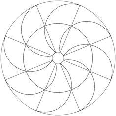 Mandala-Ausmalbild Nr. 44