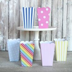 mason jars, popcorn boxes candy bags..oh my! this site is full of affordable and adorable favor packaging ideas.