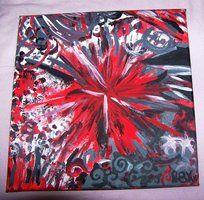 Nadii B. Xx' ft. Nicolca - ''Explodierender Stern'' Juni/'11 - mit Acryl auf Leinwand von 30 x 30 cm. 45 €. || allerlei Emotionen - überall!