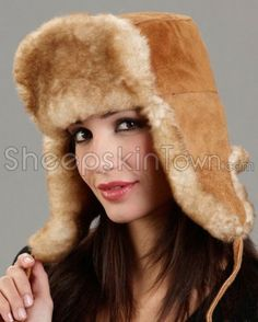 39dc29c876182 Women s Yukon Russian Ushanka Hat - Sheepskin
