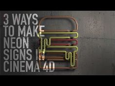 Hey, we are going to look at 3 ways we can use splines to make neon type and signs inside Cinema Who doesn't love a bit of neon action? Tutorial Sites, 3d Tutorial, 3d Design, Graphic Design, Multimedia, Cool Photoshop, Photoshop Actions, Cinema 4d Tutorial, 3d Typography