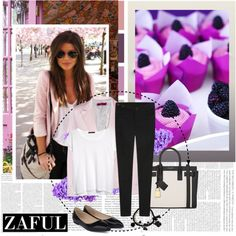 Zaful.com 15 by aida-nurkovic on Polyvore featuring polyvore fashion style MANGO Boohoo Yves Saint Laurent zaful