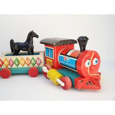Huffy Puffy  Fisher Price Toy Train by JustSmashingDarling on Etsy, $48.00