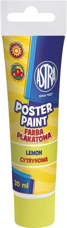 PAINTS POSTER TUBE 30ML.  LEMON 83110908 - Astralomza