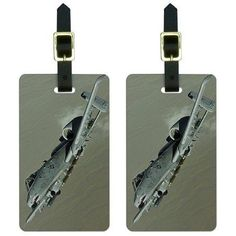 US Airforce A-10 Warthog Luggage Tags Suitcase Carry-On ID, Set of 2, Multicolor