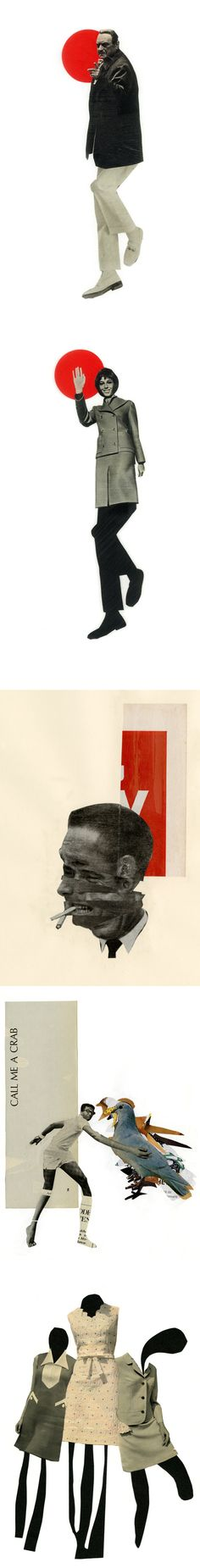 Collages from JP King, via the Jealous Curator blog. Especially love the third one down.