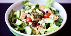 Healthy Fast Herbed Tofu Salad with Artichokes and Cherry Tomatoes