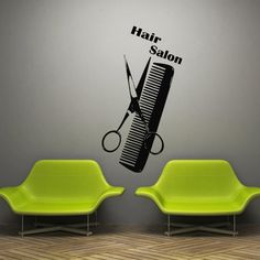 Wall decal decor decals art hair salon beauty by DecorWallDecals, $28.99