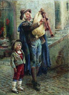 Strolling Musicians, 1900 by Konstantin Makovsky.