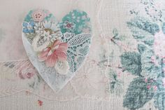 the linen garden: GIVEAWAY - hand stitch your own Love Brooch