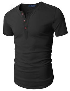 Doublju Mens Fashion Henley Short Sleeve Slim Fit Shirts at Amazon Men's Clothing store:
