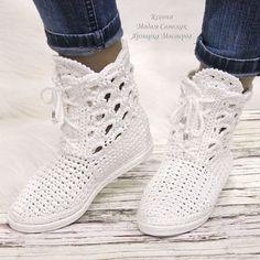 Rubber TR flexible, shoes from skin, felt and knitted Crochet Sandals, Crochet Shoes, Crochet Baby Booties, Crochet Slippers, Crochet Boots Pattern, Shoe Pattern, Crochet Backpack, Spring Boots, Knit Shoes