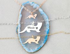 SALE  Ferret Gift Pet Ferret Necklace  Sterling Silver