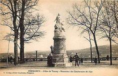 Perigueux France 1906 Combatants of 1870 Monument Antique Vintage Postcard
