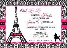 Paris birthday invitation french birthday party invitation paris paris birthday invitation template imagestack stopboris Images