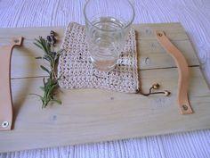 czas oscrapowany: Drewniana taca ze starych desek