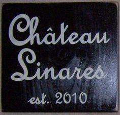 CHATEAU Custom French Country HP Sign Plaque by shabbysignshoppe, $32.95