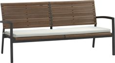Rocha Sofa with Sunbrella® White Sand Cushion  | Crate and Barrel