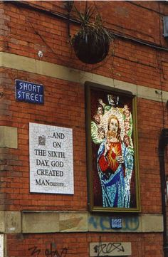 Affleck Palace mosaic, Norther Quarter, Manchester, United Kingdom, photograph by Peter van der Bruck. Visit Manchester, Manchester England, Manchester United, Manchester Northern Quarter, Rochdale, Salford, Sense Of Place, North Yorkshire, British Isles