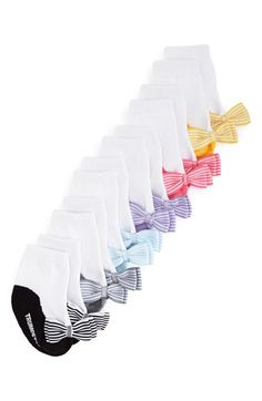 Trumpette+'Maddie's'+Stripe+Bow+Socks+(6-Pack)+(Baby+Girls)+available+at+#Nordstrom