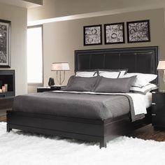 love this one!    Lexington Black Ice Graphite Panel Bed
