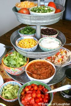 Mexican Salad & Taco Bar-Perfect For Families! - Echoes of Laughter - - Mexican Salad & Taco Bar-Perfect For Families! – Echoes of Laughter Food Mexikanischer Salat & Taco Bar – Perfekt für Familien Mexican Salads, Mexican Food Recipes, Ethnic Recipes, Mexican Food Buffet, Taco Bar Recipes, Mexican Bar, Ideas Party, Fiesta Theme Party, Snacks
