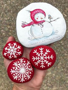 Creative Diy Christmas Painted Rock Design Ideas To Try 17 Rock Painting Ideas Easy, Rock Painting Designs, Paint Designs, Stone Crafts, Rock Crafts, Holiday Crafts, Thanksgiving Crafts, Halloween Crafts, Pebble Painting