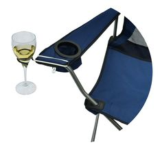 The Wine Hook ......wine glass holder for an outdoor folding camp bag chair. on Etsy, $9.99