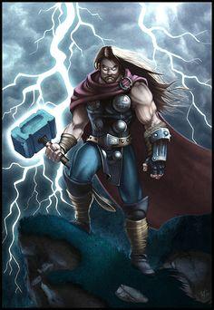 Thor: God of Thunder_by *WesTalbott on deviantART Odin Marvel, Marvel Avengers, Chris Hemsworth Thor, Marvel Comics Superheroes, Marvel Heroes, Comic Book Characters, Marvel Characters, Fantasy Characters, Thor Wallpaper
