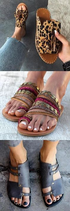 New Boho Sandals Cute Shoes, Me Too Shoes, Slipper Sandals, Trendy Fashion, Womens Fashion, Summer Shoes, Chic Outfits, Ideias Fashion, What To Wear