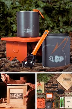 Outdoor Survival Crate.  Not only is this gift perfect for my dad for Father's Day, it might even save his life one day!  | ManCrates