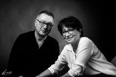 Photo portrait studio couple Noir et Blanc Photographe portrait Lyon. Photo Hervé Deroo
