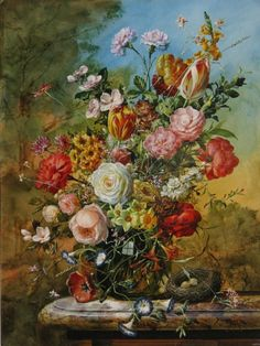 Enjoy our large collection of Gyuka Siska Original Oil Paintings. Siska's highly detailed florals are reminiscent of old master paintings. Beauty In Art, Old Master, Flower Art, Still Life, Fine Art, Drawings, Creative, Artwork, Flowers