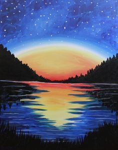 We host painting events at local bars. Come join us for a Paint Nite Party! Easy Canvas Painting, Painting & Drawing, Canvas Art, Acrylic Canvas, Painting Lessons, Painting Tips, Canvas Paintings, Cool Paintings, Oil Pastel Art