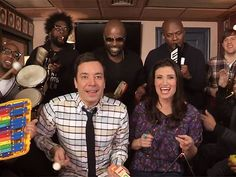 Watch Idina Menzel Jam to 'Let It Go' on The Tonight Show with Jimmy Fallon, The Roots and Toy Instruments