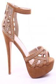 RED FAUX SUEDE PEEP TOE MINI RHINESTONES ANKLE STRAP HIGH HEELS,Women's Heels-Sexy Heels,High Heels Pumps,6 Inch Heels,High Heels Shoes,Heels and Pumps,Platform Heels,Stiletto Heel,Fashion Heels,Prom Heels,6 Inch High Heels,Party Heels At LolliCouture