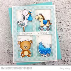 15 Ideas for baby cards handmade cardmaking Baby Girl Cards, New Baby Cards, New Baby Gifts, Fun Baby Announcement, Baby Boy Decorations, Baby Clothes Storage, Baby Girl Quilts, Copics, Baby Crafts
