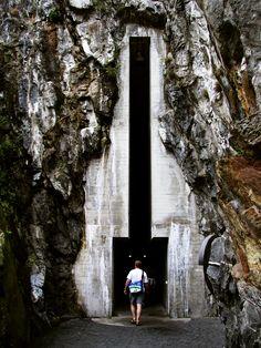 Aurelio Galfetti - Entrance to the Restauro Castelgrande, completed in 1981. Taken in Bellinzona, Switzerland in the summer of 2004