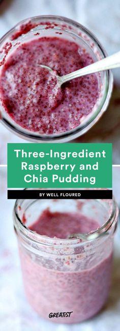 three ingredient breakfast: Chia Seed Pudding