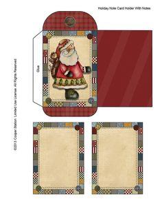Digital Note Card and Holder Primitive Folk Art от CooperStation