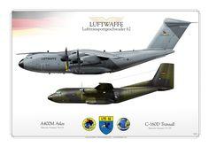 GERMAN AIR FORCE . LUFTWAFFELufttransportgeschwader 62 Transall & Atlas