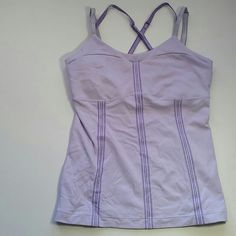 Lululemon lavender tank Light lavender tank top  Lululemon Size: 6 Not padded built in bra. lululemon athletica Tops Tank Tops