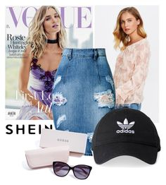 """Bez naslova #91"" by xchbcx ❤ liked on Polyvore featuring Whiteley, adidas and GUESS"