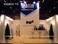 Diseño y Construcción de stand para firma turca- Bilim Pharmaceuticals – CPhI Worldwide Madrid. www.espaciod.net info@espaciod.net (+ 34) 91 404 79 52