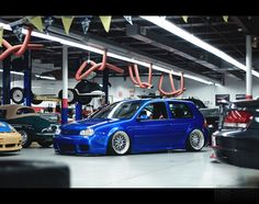 Mk4 R32 Slammed on BBS... Love that color!