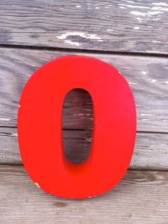 vintage letter O / retro signage / red metal by OneLuckyWeed, $28.00