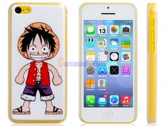 One Piece Luffy Print Matte Plastic Case for iPhone 5C