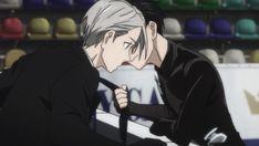 Anime Manga, Anime Guys, Yuri On Ice Comic, Ice Skaters, Anime Ships, Keyboard, Display, Anime Boys